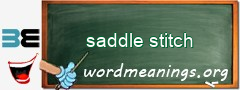 WordMeaning blackboard for saddle stitch